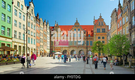 Green Gate Old Town Gdansk Poland Europe - Stock Photo