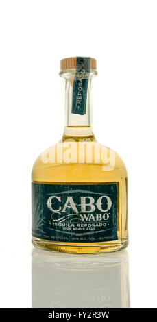 Winneconne, WI - 19 March 2016:  A bottle of Cabo wabo tequila - Stock Photo