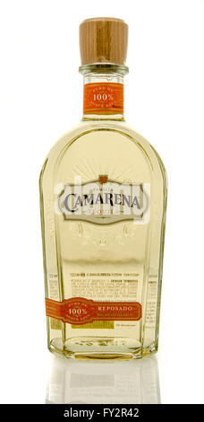 Winneconne, WI - 19 March 2016:  A bottle of Camarena tequila - Stock Photo