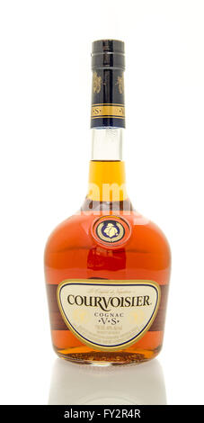 Winneconne, WI - 19 March 2016:  A bottle of Courvoisier cognac - Stock Photo