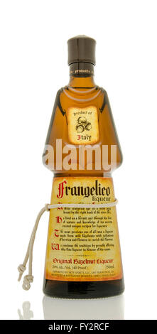 Winneconne, WI - 19 March 2016:  A bottle of Frangelico hazelnut liqueur - Stock Photo