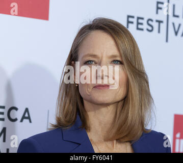 New York, USA. 22nd April, 2016. Jodie Foster attends 40th anniversary screening of Taxi Driver at Tribeca Film - Stock Photo