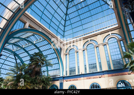 Palm Court at Alexandra Palace, London Borough of Haringey, Greater London, England, United Kingdom - Stock Photo