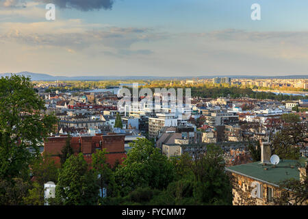 Budapest Panorama.View from Fisherman's Bastion - Stock Photo