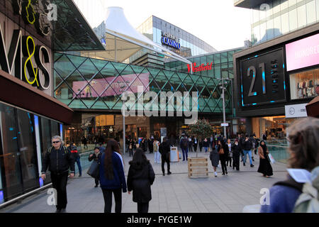 People shopping at Westfield shopping centre, Stratford, London, England, UK - Stock Photo
