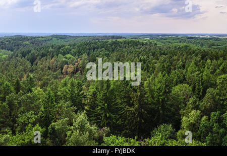 View over Ruhner Berge Mountains near Parchim - Stock Photo