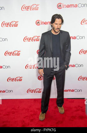 Actor Keanu Reeves attends the CinemaCon awards in Las Vegas - Stock Photo