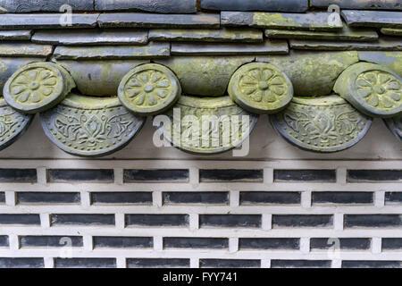 traditional korean hanok tiles - Stock Photo