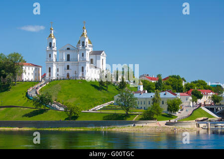 On the bank of the river Dvina - Stock Photo