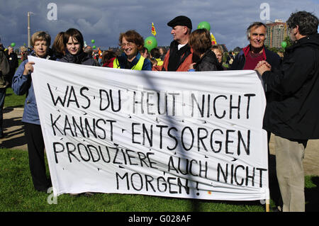 Anti-nuclear demonstration in Berlin - Stock Photo