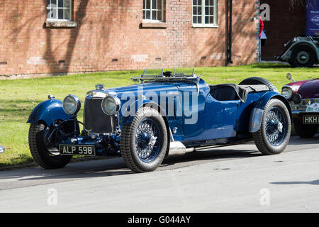 1933 Aston Martin Le Mans 1500cc car at  Bicester Heritage Centre. Oxfordshire, England - Stock Photo