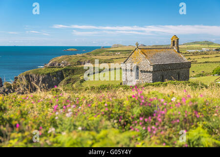 St Nons Chapel - Pembrokeshire - Stock Photo