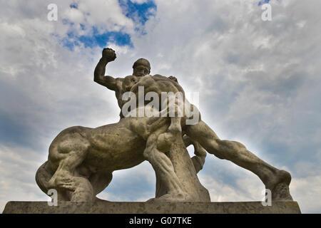 Szczecin, sculpture, Waly Chrobrego Terrace - Stock Photo