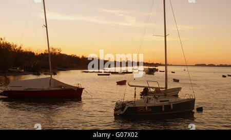 Sunset in a Boat - Stock Photo