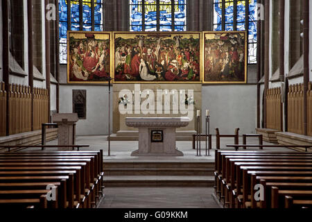 Interior view of the Provost Church, Dortmund. - Stock Photo