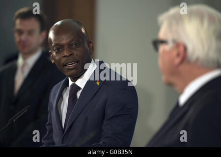 Press Conference between Steinmeier and his Togo counterpart . - Stock Photo