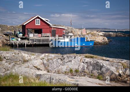Skerry Island Kaeringoen in Sweden - Stock Photo