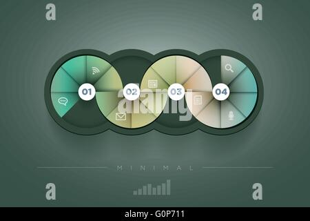 Vector abstract infographic design template. lights, shadows, color shapes etc. layered separately in vector file. - Stock Photo