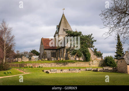 The Church of St Margaret of Antioch in Ditchling, East Sussex, UK - Stock Photo