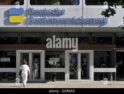 German Pension Insurance, Hohenzollerndamm, Wilmersdorf, Berlin, Germany - Stock Photo