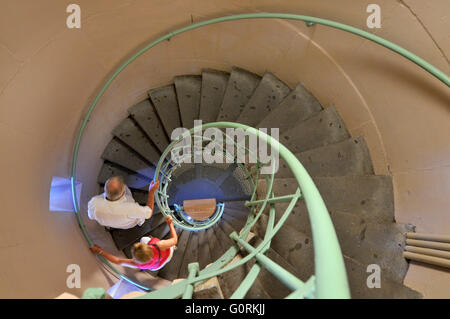 Circular staircase, Berlin Victory Column, Grosser Stern, Tiergarten, Mitte, Berlin, Germany / Berliner Siegessaule, - Stock Photo