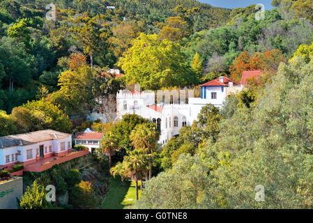 Portugal, Algarve: View to thermal village Caldas de Monchique - Stock Photo