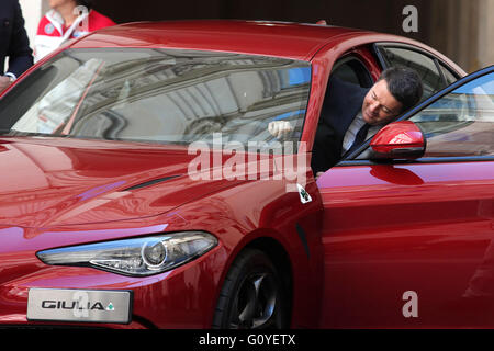 Rome, Italy. 5th May, 2016. Matteo Renzi Rome 5th May 2016. Presentation of the new Giulia by Alfa Romeo.  Credit: - Stock Photo