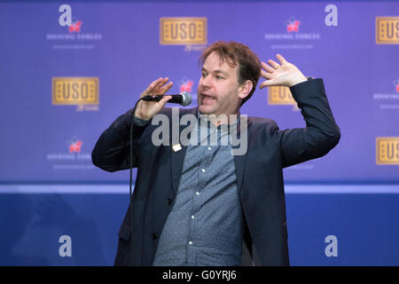Washington DC, USA. 5th May, 2016. Comedian Mike Birbiglia during a comedy show in celebration of the 75th anniversary - Stock Photo