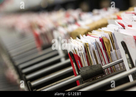 letters in sorting office - Stock Photo
