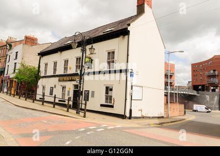 The Black Horse Pub on Yorke Street Wrexham - Stock Photo