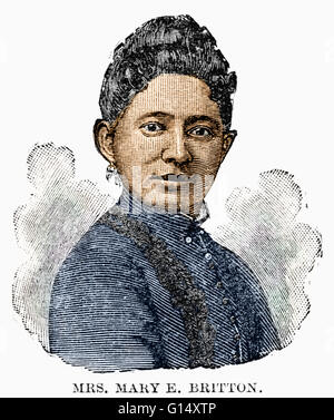 Mary E. Britton (1815 - 1925) was an African-American physician. She attended Berea College, the first institution - Stock Photo