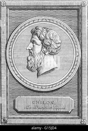 Chilon of Sparta (6th century BC) was a Lacedaemonian and one of the Seven Sages of Greece. He was a famous legislator - Stock Photo