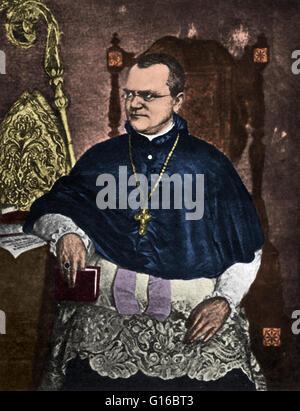Color enhancement of a portrait artwork of Gregor Johann Mendel (July 20, 1822 - January 6, 1884), an Austrian scientist - Stock Photo