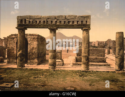 A forum was a public square in a Roman municipium, or any civitas, reserved primarily for the vending of goods. - Stock Photo