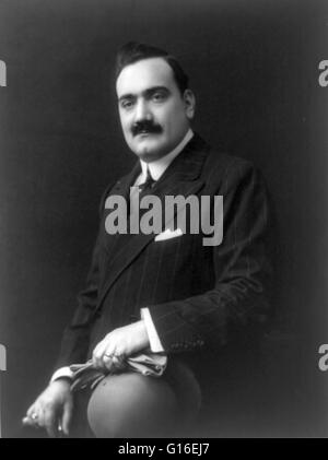 Enrico Caruso (February 25, 1873 - August 2, 1921) was an Italian operatic tenor. He sang to great acclaim at the - Stock Photo