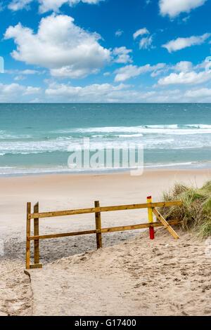 Beach and sky,  White Rocks, Co. Antrim, Northern Ireland - Stock Photo