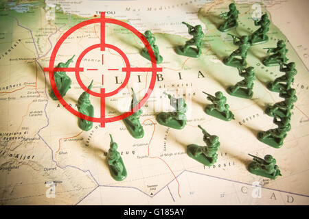Rebels as invaders on Libya territory - Stock Photo