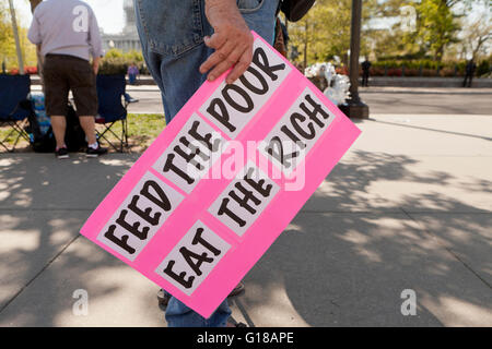 Washington, DC, USA. 17th April, 2016.Hundreds of Democracy Spring activists protest on Capitol Hill - Stock Photo