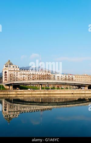 Eurasia, Caucasus region, Georgia, Tbilisi, Mtkvari river - Stock Photo