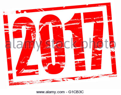 Red rubber stamp effect - 2017 - Stock Photo