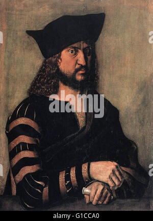 Portrait of Frederick III, Elector of Saxony (1463-1525) by Albrecht Dürer (1471-1528) a painter, printmaker and - Stock Photo