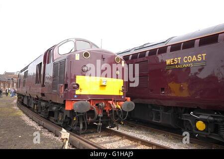 class 37 diesel locomotives West Coats Railways - Stock Photo