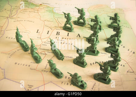 Rebels on Libya territory - Stock Photo