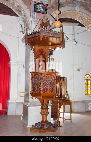 Pulpit of Santa Cruz Cathedral at Fort Kochi - Stock Photo