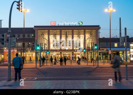 central train station Hauptbahnhof in Dortmund, North Rhine-Westphalia, Germany, Europe - Stock Photo