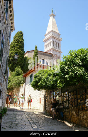 Rovinj (Rovigno) is a city in Croatia situated on the north Adriatic Sea - Stock Photo