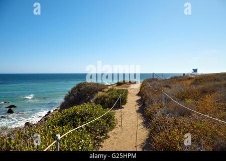Footpath to the malibu beach - Stock Photo