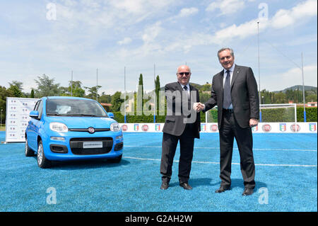 Fiat Chrysler Automobiles (FCA) and the Italian Football Federation (FIGC) presented on Thursday a limited edition - Stock Photo