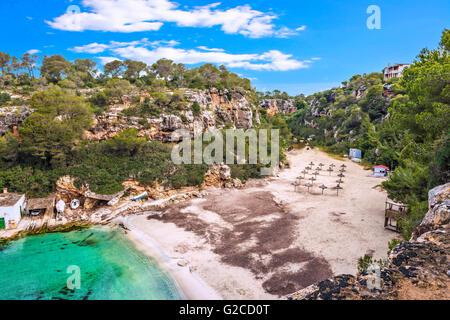 Paradise Beach at Cala Pi, Majorca, Spain, Europe - Stock Photo