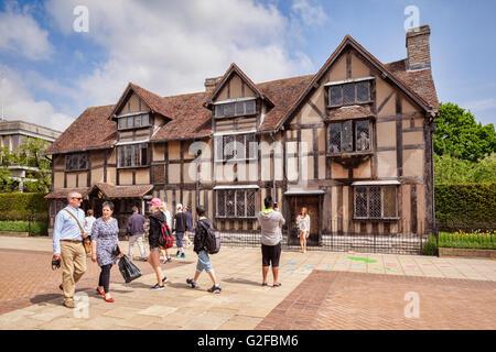 William Shakespeare Birthplace Museum, Stratford-upon-Avone, Warwickshire, England, UK - Stock Photo